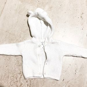 Carter's white long sleeve knit sweater